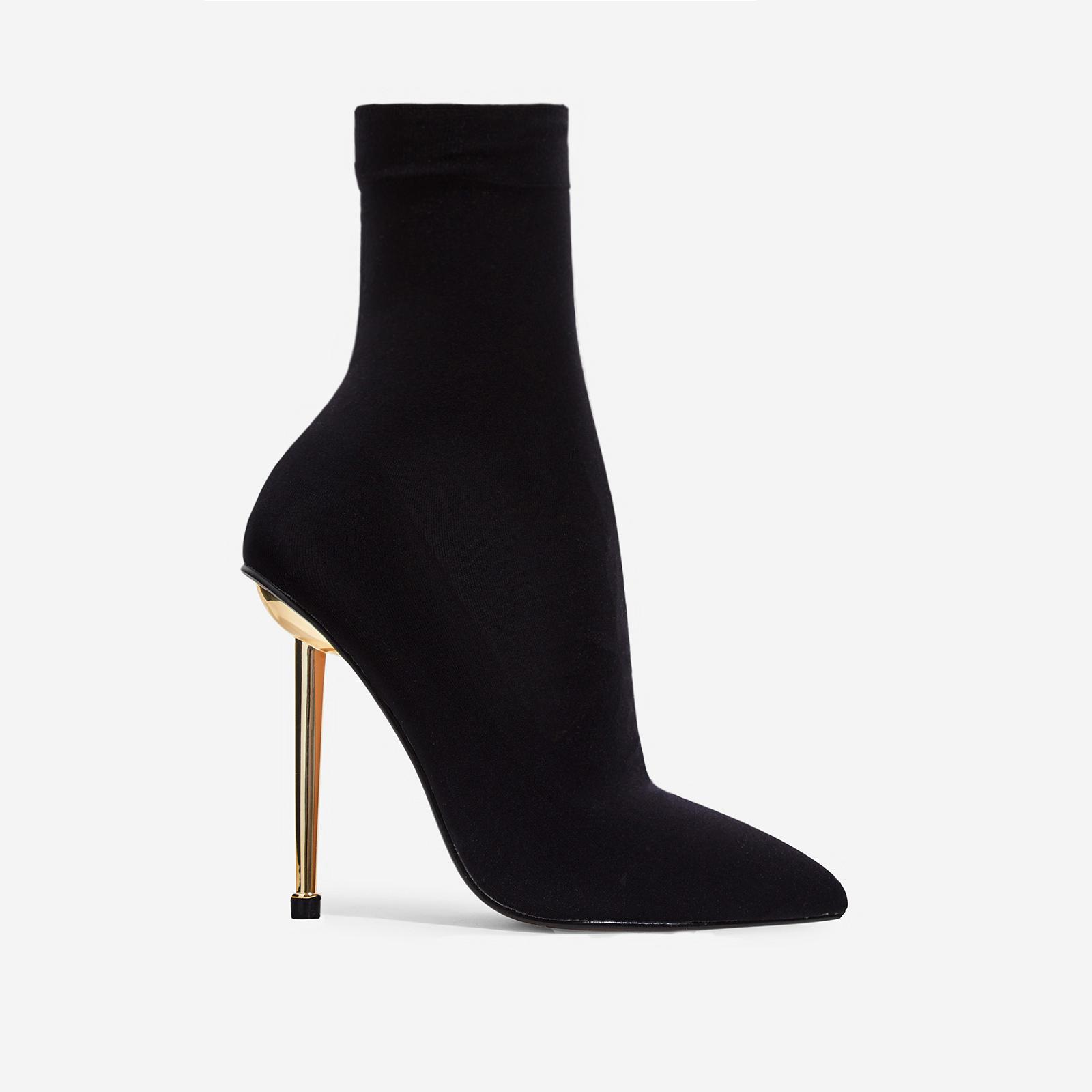 Jade Ankle Sock Boot In Black Knit