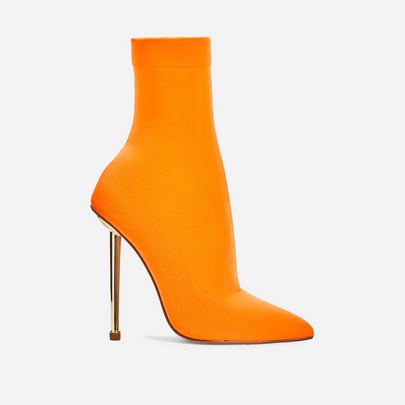 Jade Ankle Sock Boot In Orange Knit