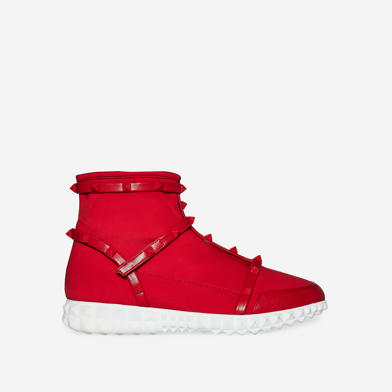 Rocha Studded Detail Trainer In Red Knit