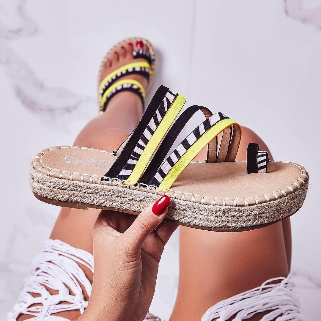 Carisa Espadrille Sandal In Black Zebra Print