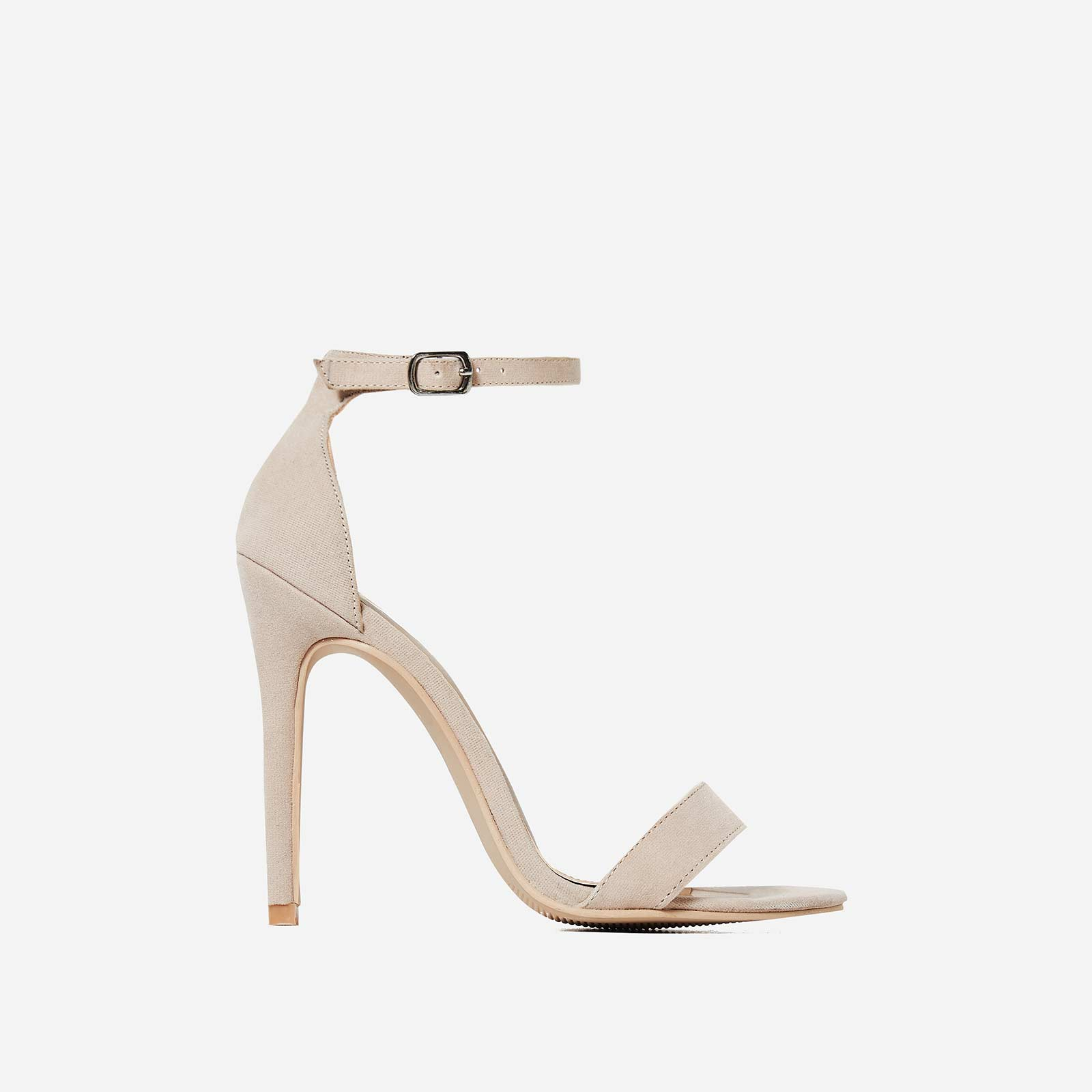 Angel Barely There Heel In Nude Faux Suede