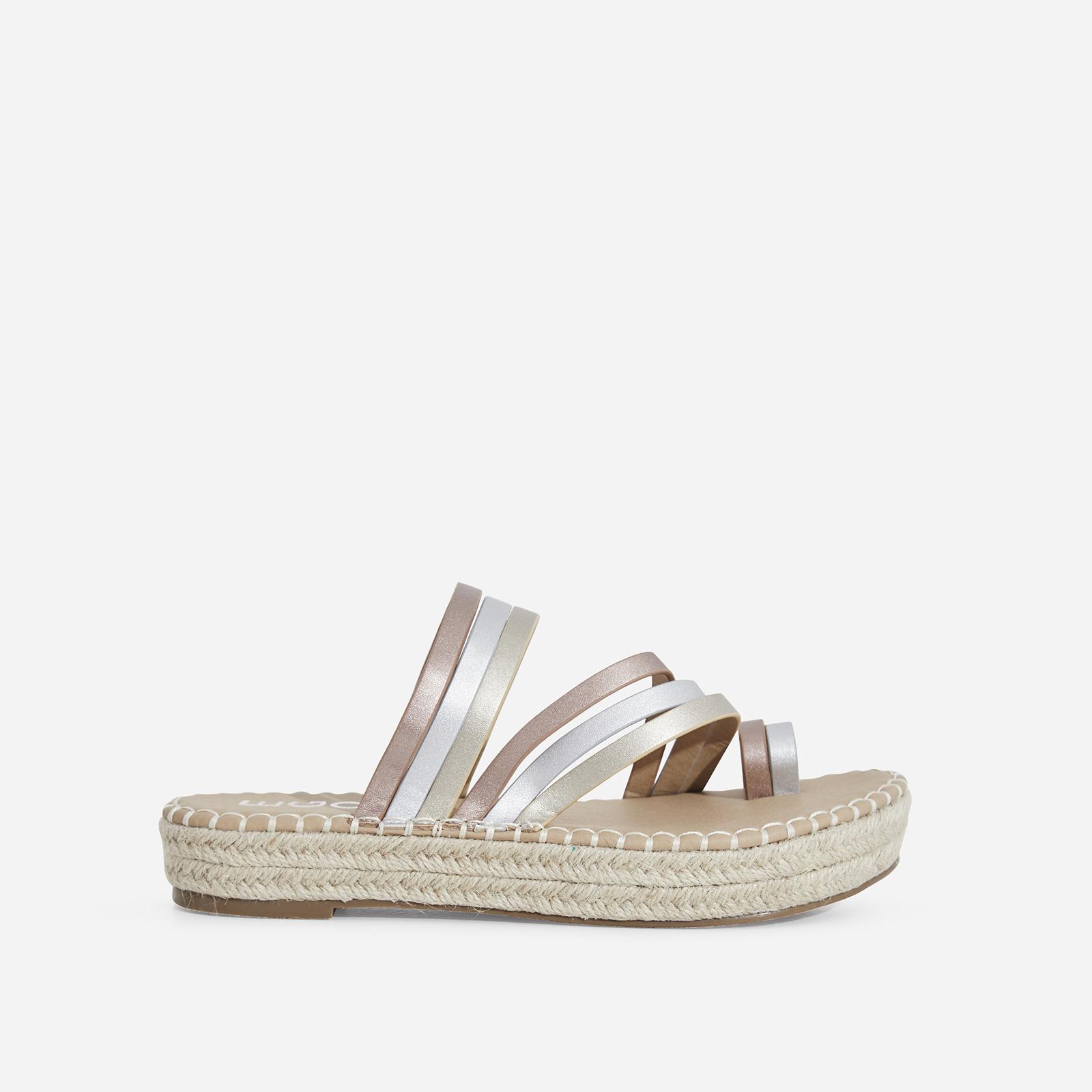 Carisa Espadrille Sandal In Metallic