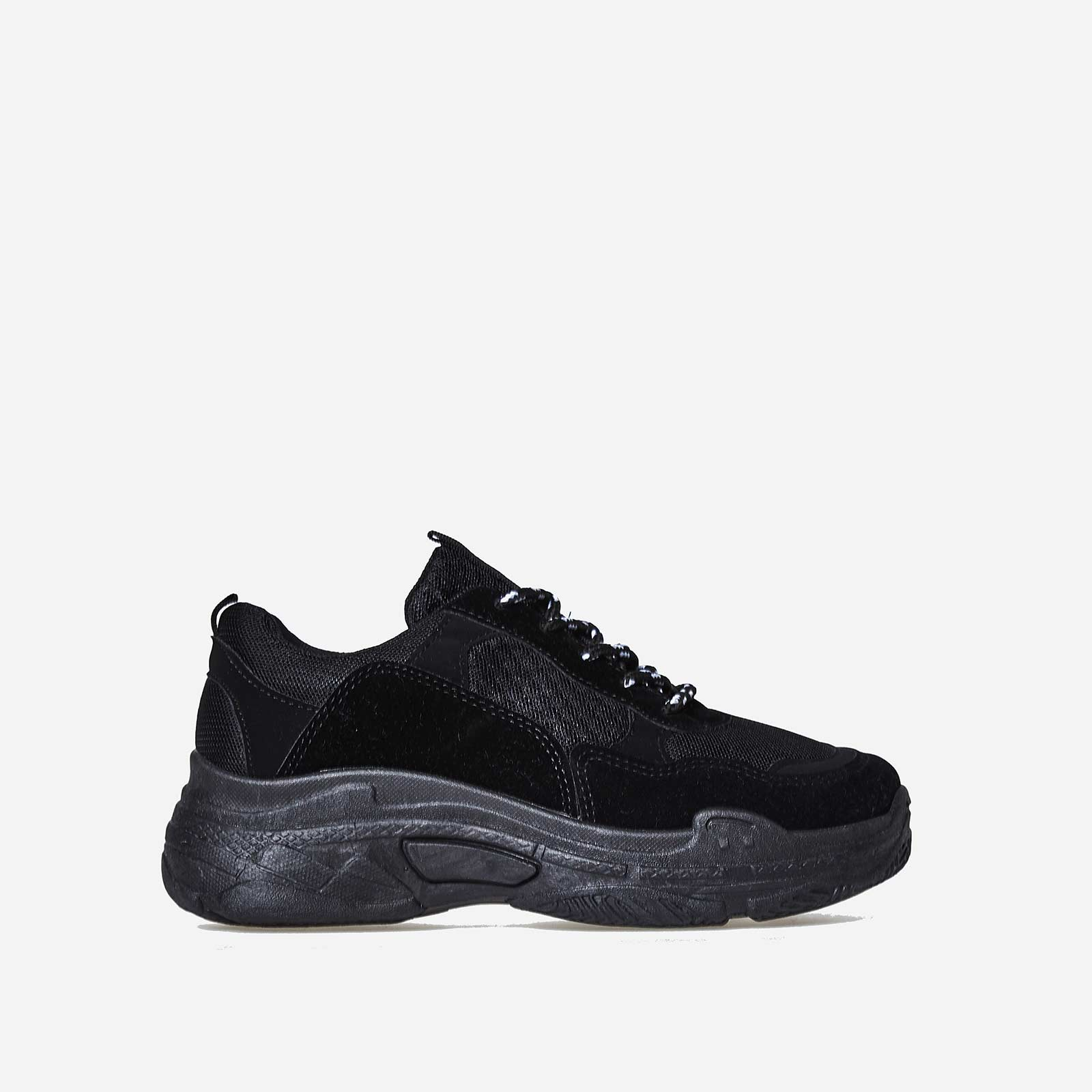 Elijah Chunky Trainer In All Black