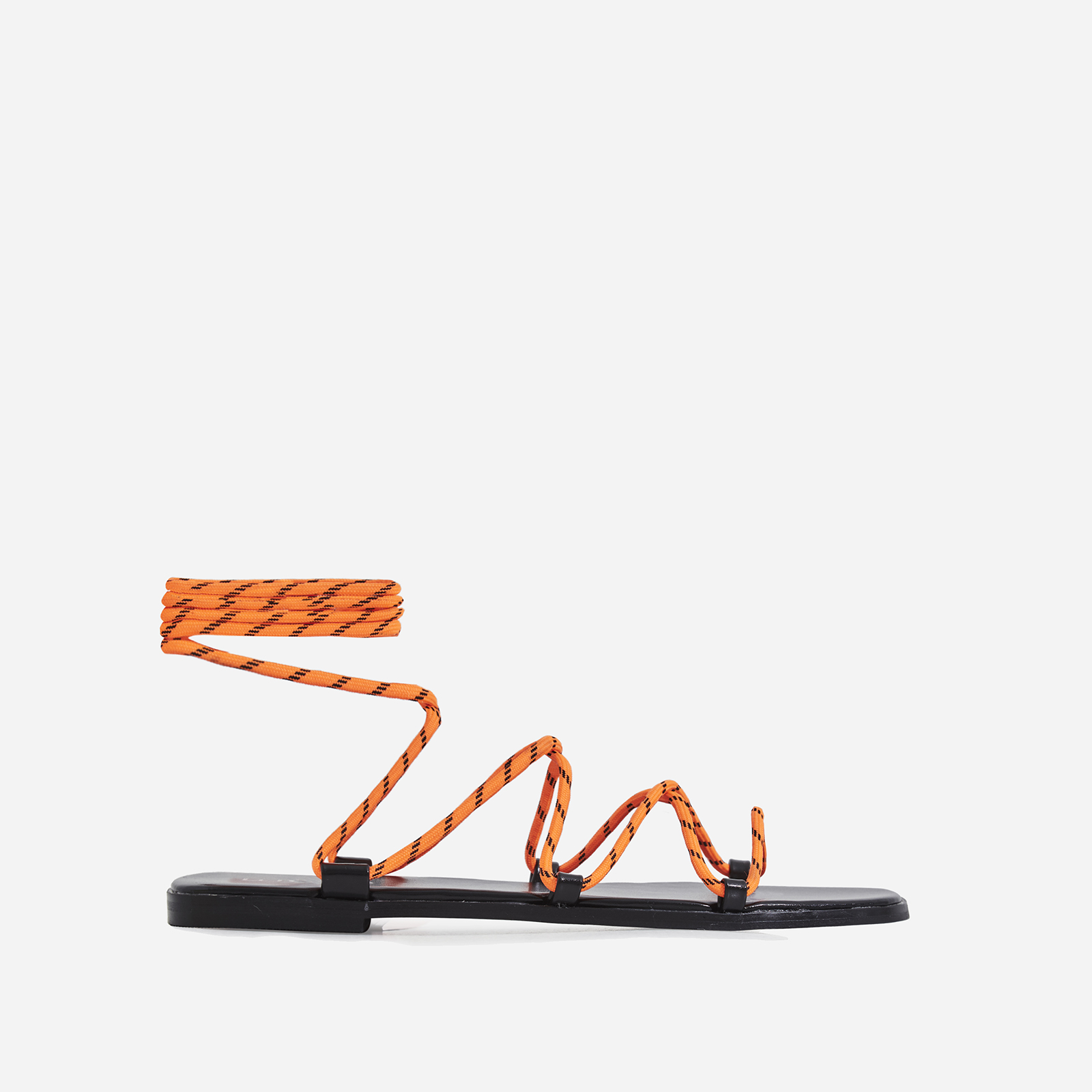Felix Lace Up Sandal In Orange