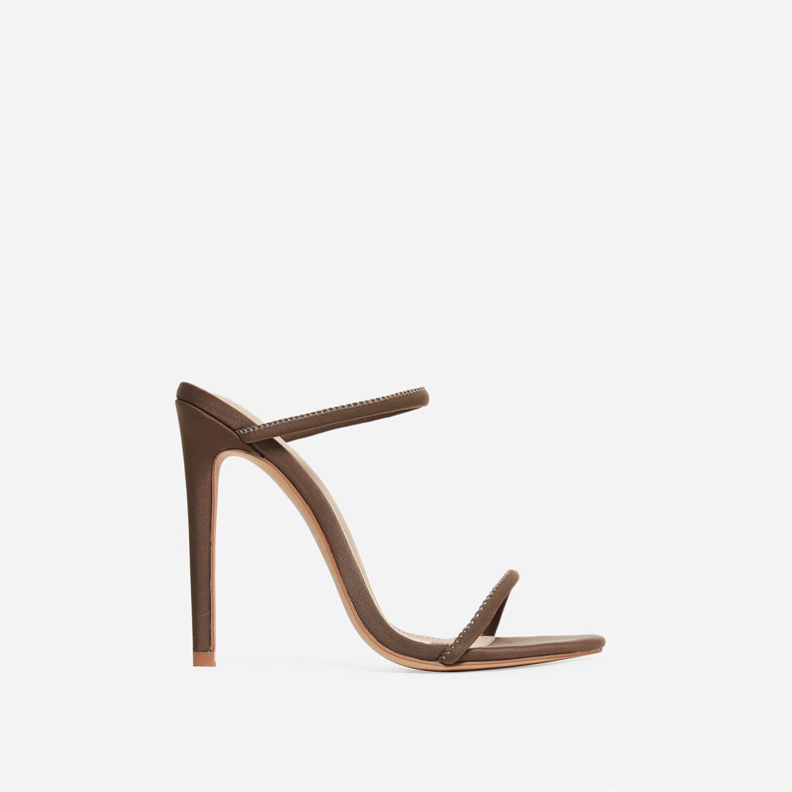 Helix Barely There Mule In Khaki Lycra