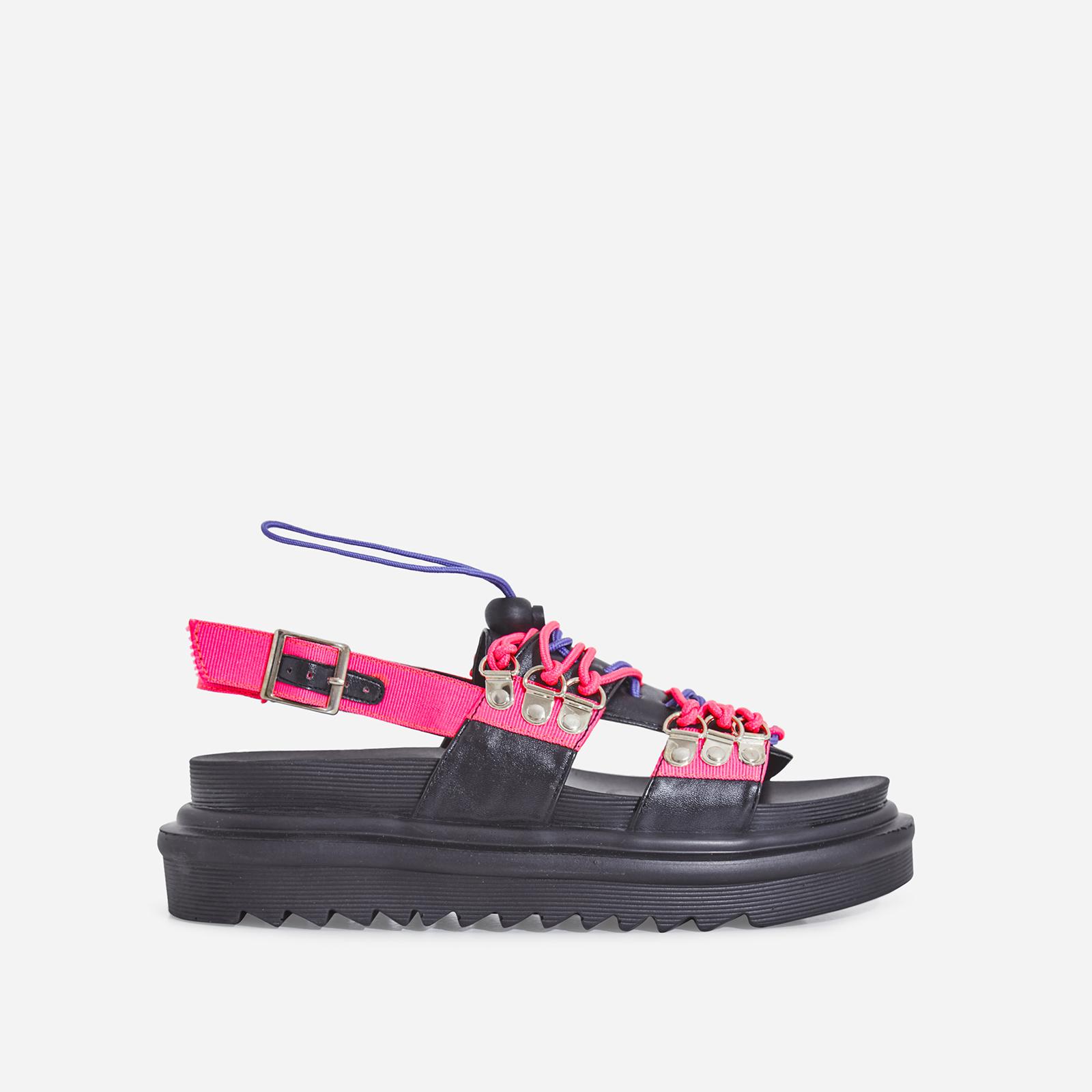 Sierra Lace Up Sandal In Pink