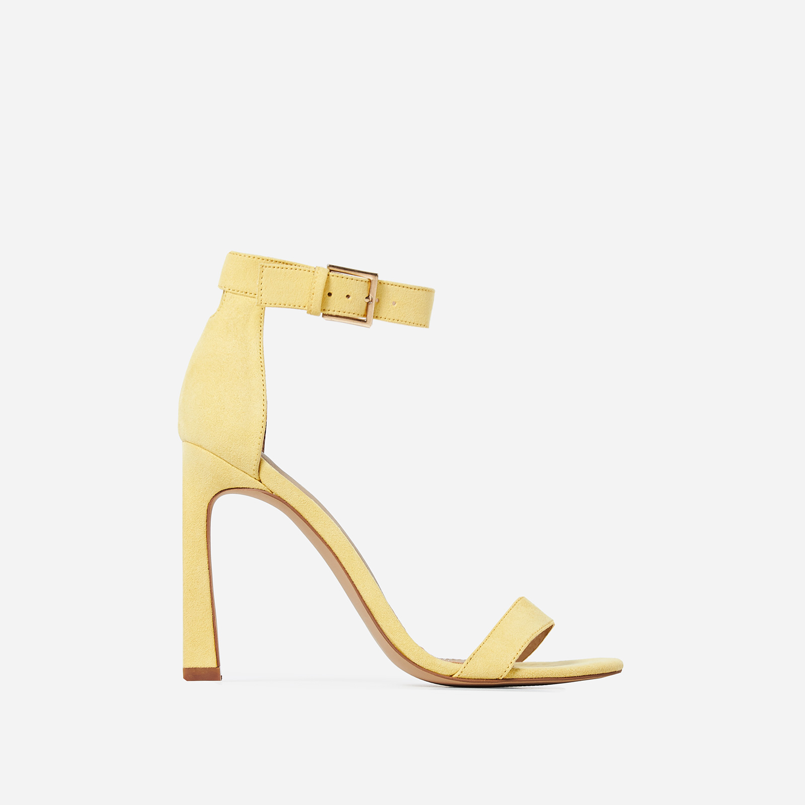 Melrose  Barely There Flared Stiletto Heel in Yellow