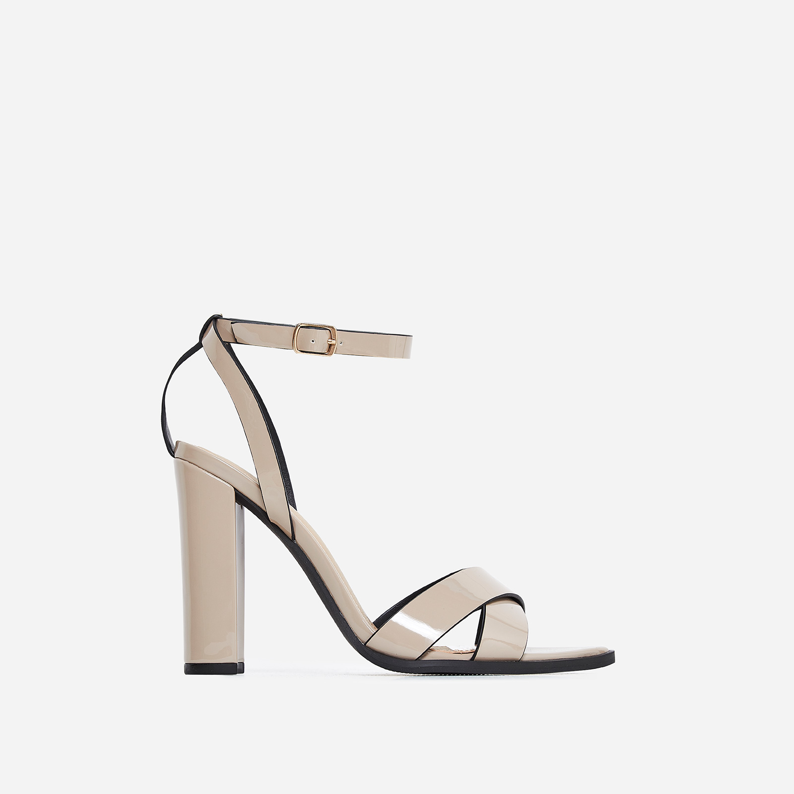 Obsessed Black Heel In Nude Patent