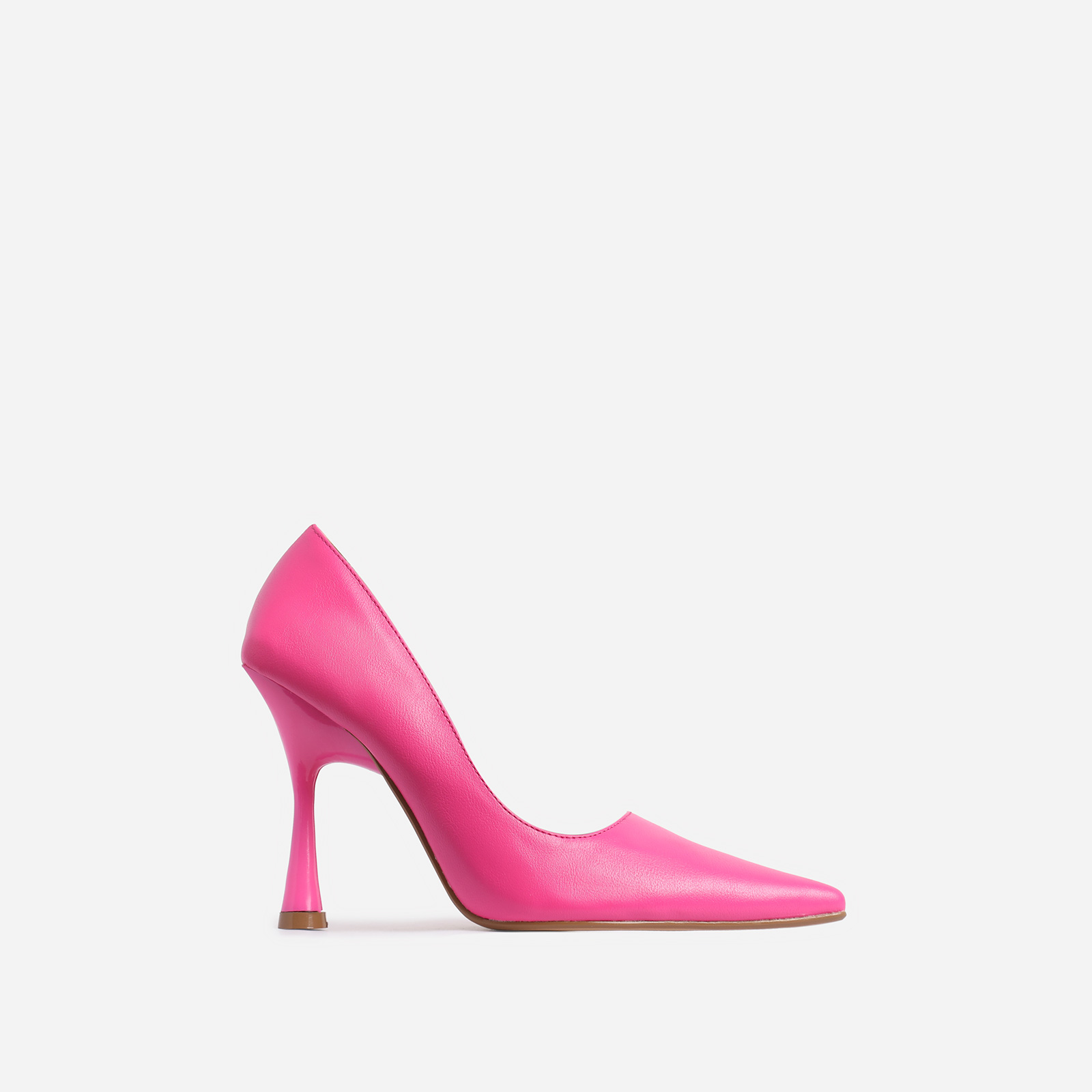 Levi Pointed Toe Court Heel In Pink Faux Leather