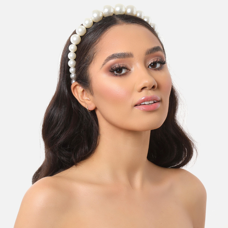 Headband In Ivory Pearl