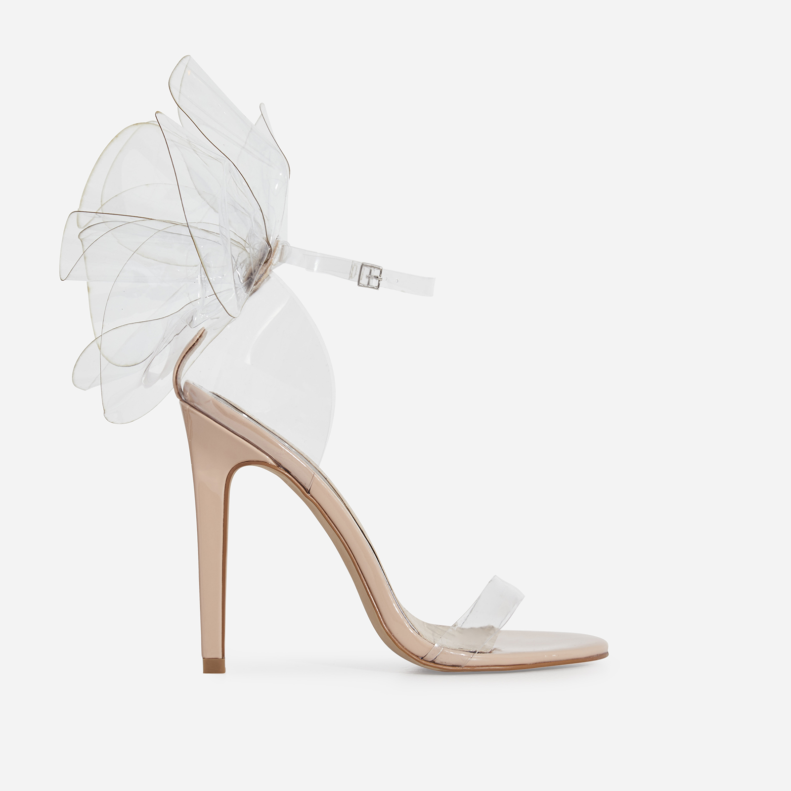 Sweetener Perspex Barely There Heel In Nude Patent