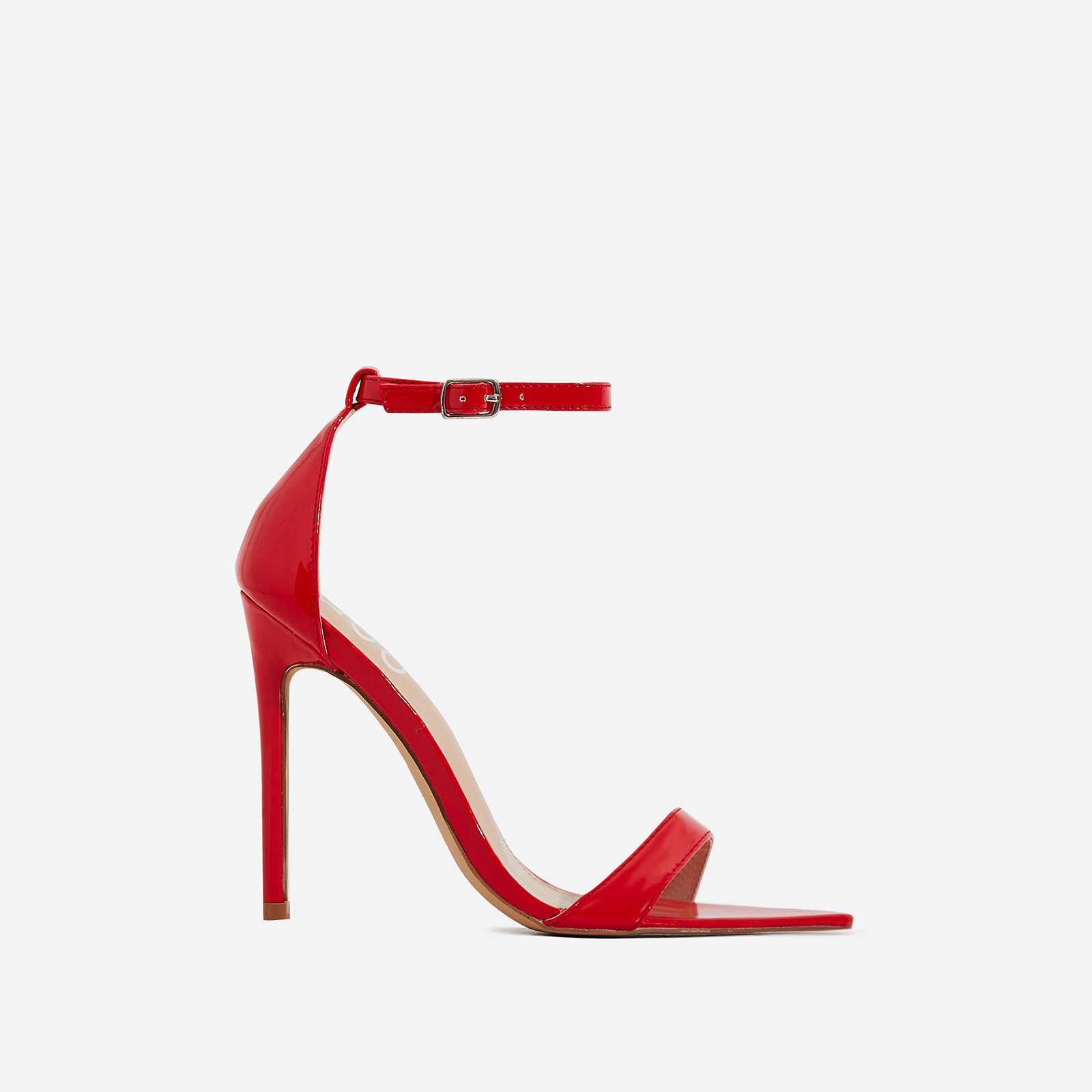 Trey Pointed Barely There Heel In Red Patent
